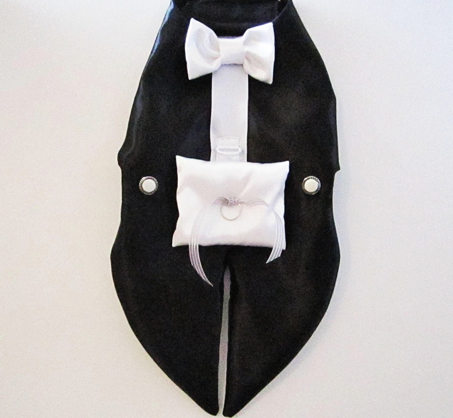 Dog Tuxedo Harness: Ring Bearer