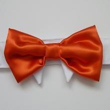 Formal Dog Bow Tie : Wedding Tango Tangerine